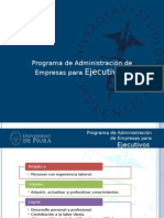 UDEP - Administración de Empresas para Ejecutivos