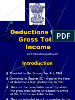 Deduction From Gross Total Income