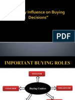 Family influence on buying decisions