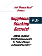 Supplement Stacking Report