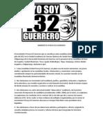 Manifiesto Yosoy132Guerrero