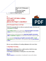 FCE CAE Useful Phrases and Tips for Writing Paper