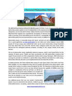 Develop Personal Photovoltaic Method
