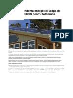 Casa Pasiva-casa Independenta Energetic