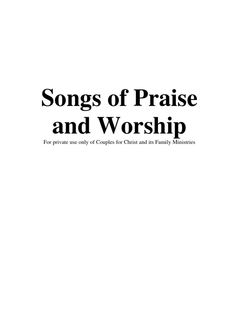 Songs of Praise and Worship | Glory (Religion) | Contemporary ...