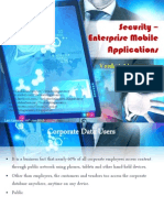 Enterprise Mobile Application Security