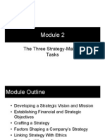 Module 2 - The Three Strategy-Making Tasks