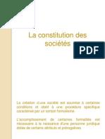 Constitution des sociétés