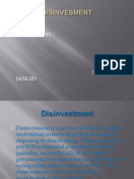 Disinvestment and Disinvestment in Ntpc