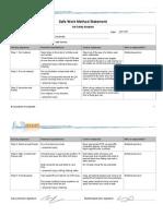 Example Safe Work Method Statement