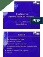 Bier-Brouwen, Verleden+Heden+Toekomst - Freddy Delvaux (KUL)