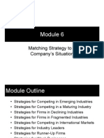 Module 6 - Matching Strategy to a Company's Situation