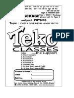 Unit Dimensions Basic Maths Type 1 Type 1
