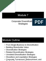 Module 7 - Corporate Diversification Strategies
