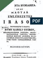 Rumy Károly György - Magyar emlékezetes irások 2.kötet 1816.