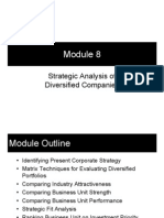 Module 8 - Strategic Analysis of Diversified Companies