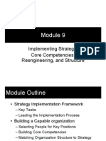 Module 9 - Implementing Strategy; Core Competencies, Reengineering, And Structure