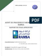 Audit Du Processus d'Abonnement - RAMSA