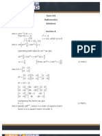 Topper Pre Board-Answersheet_CBSE XII_Math