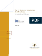 Top Ten Customer Satisfaction Best Practices for Contact Center IVR Surveys