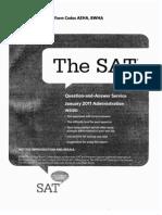 SAT test January 2011