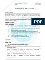 Microbiology Course Syllabus