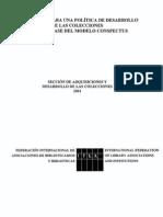 Directrices Para Una Politica de Desarrollode Las Colecciones Sobre La Base Del Modelo Conspectus