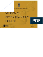 Biotechnology Policy