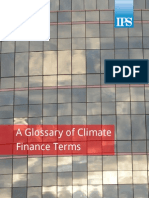 A Glossary of Climate Finance Terms