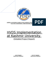 DPR for HVDS at Kashmir University