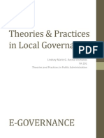 Theories & Practices in Local Governance