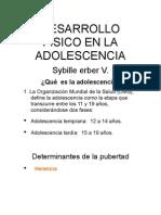 DESARROLLO FÍSICO EN LA ADOLESCENCIA