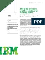 Predictive Analytics in Warranty Claims