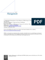 A Longitudinal Examination of the Influence of Mentoring on Organizational Commitment and Turnover
