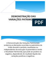 DEMONSTRAÇÃO DAS VARIAÇÕES PATRIMONIAIS