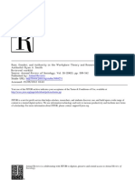 Race, Gender, And Authority in the Workplace- Theory and Research
