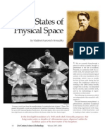 On the States of Physical Space (by Vladimir Ivanovich Vernadsky)