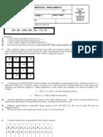lista de nivelamento - números inteiros