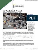 Al Qaeda Link Probed