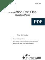 Közvetítés (Mediation) - 1. rész - Question paper