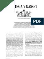 Ortega Gasset o el arte de la simulación