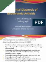 Differential Diagnosis of Rheumatoid