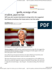 Christine Lagarde, Scourge of Tax Evaders, Pays No Tax