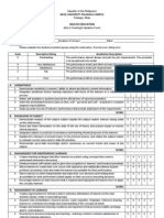 Student Reporting Evaluation Sheet