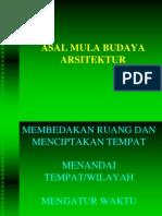 KULIAH II -Asal Mula Budaya Ars