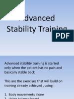 Advanced Stability Training