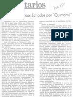 Comentario prensa, Quimantú
