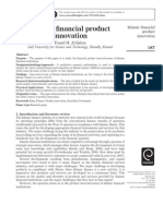 Islamic financial product innovation