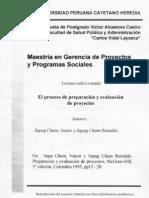 El Proceso de Preparacion y Evaluacion de Proyectos