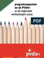 Programma PVDA+ regionale verkiezingen 2009